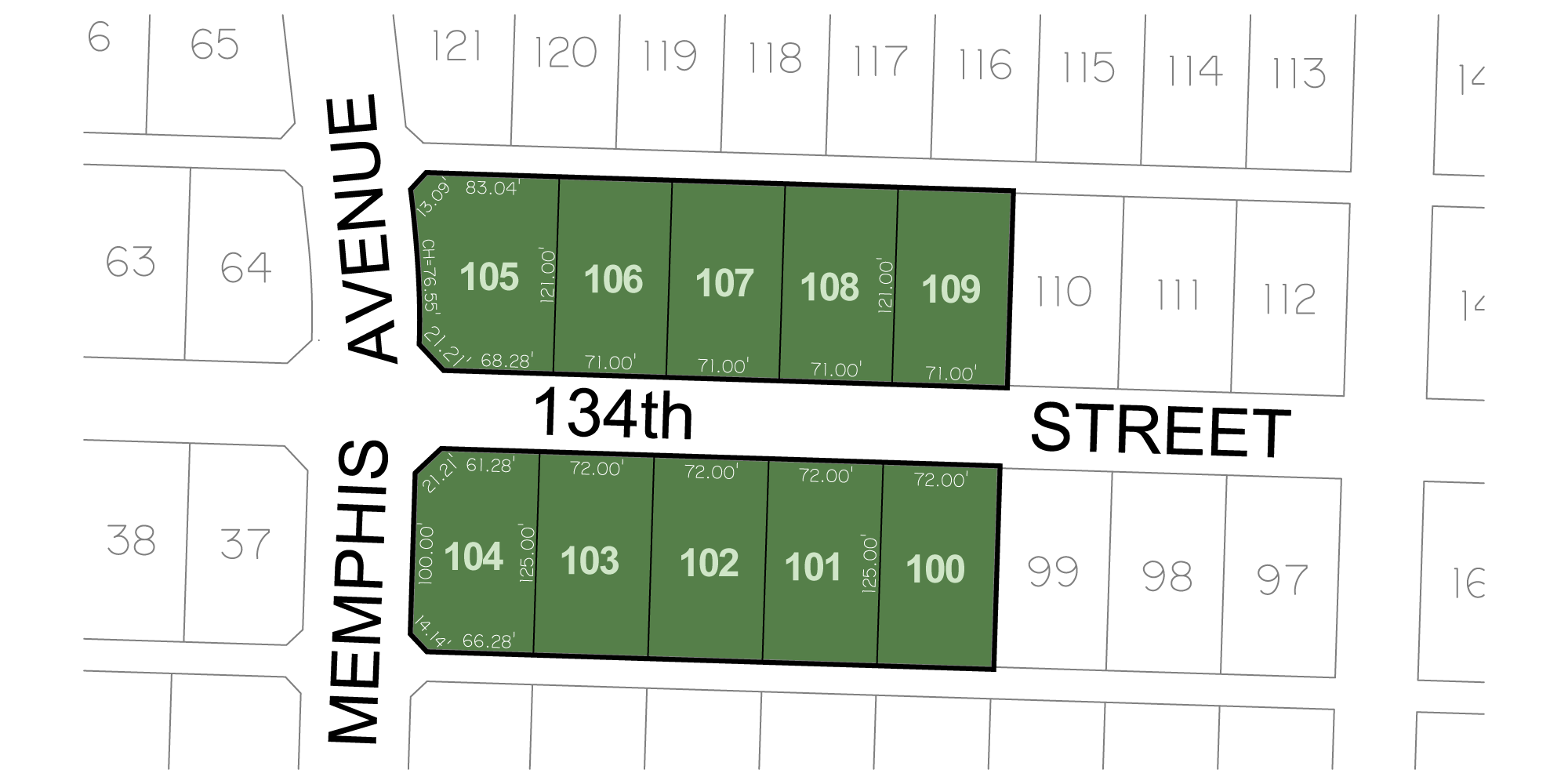 Kelsey Park - Parade of Homes Lot Dimensions