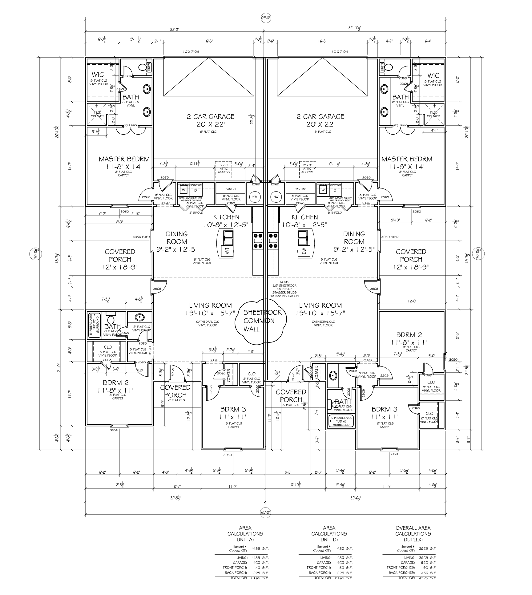 Kelsey Park Duplexes Floor Plan